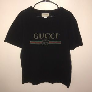 Gucci distressed oversized logo tee